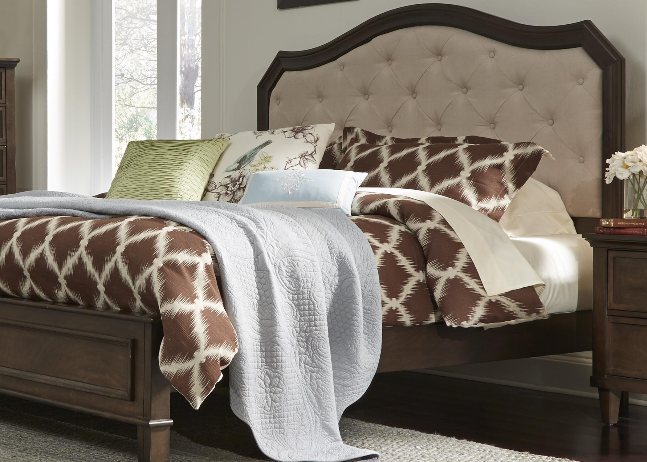 Liberty Furniture King Uph Headboard & Footboard - Linen