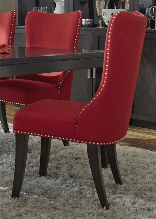 Upholstered Side Chair -Red (RTA)