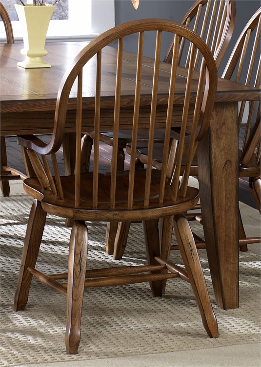 Liberty Furniture Bow Back Arm Chair - Oak