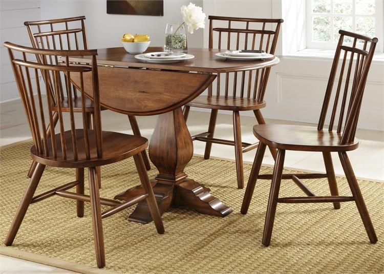 Liberty Furniture Drop Leaf Pedestal Table Top