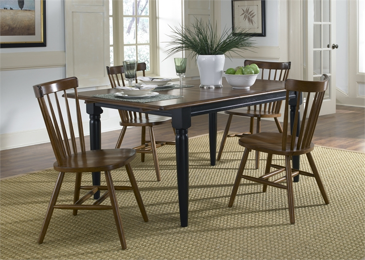 Liberty Furniture Butterfly Leaf Table - Black & Tobacco