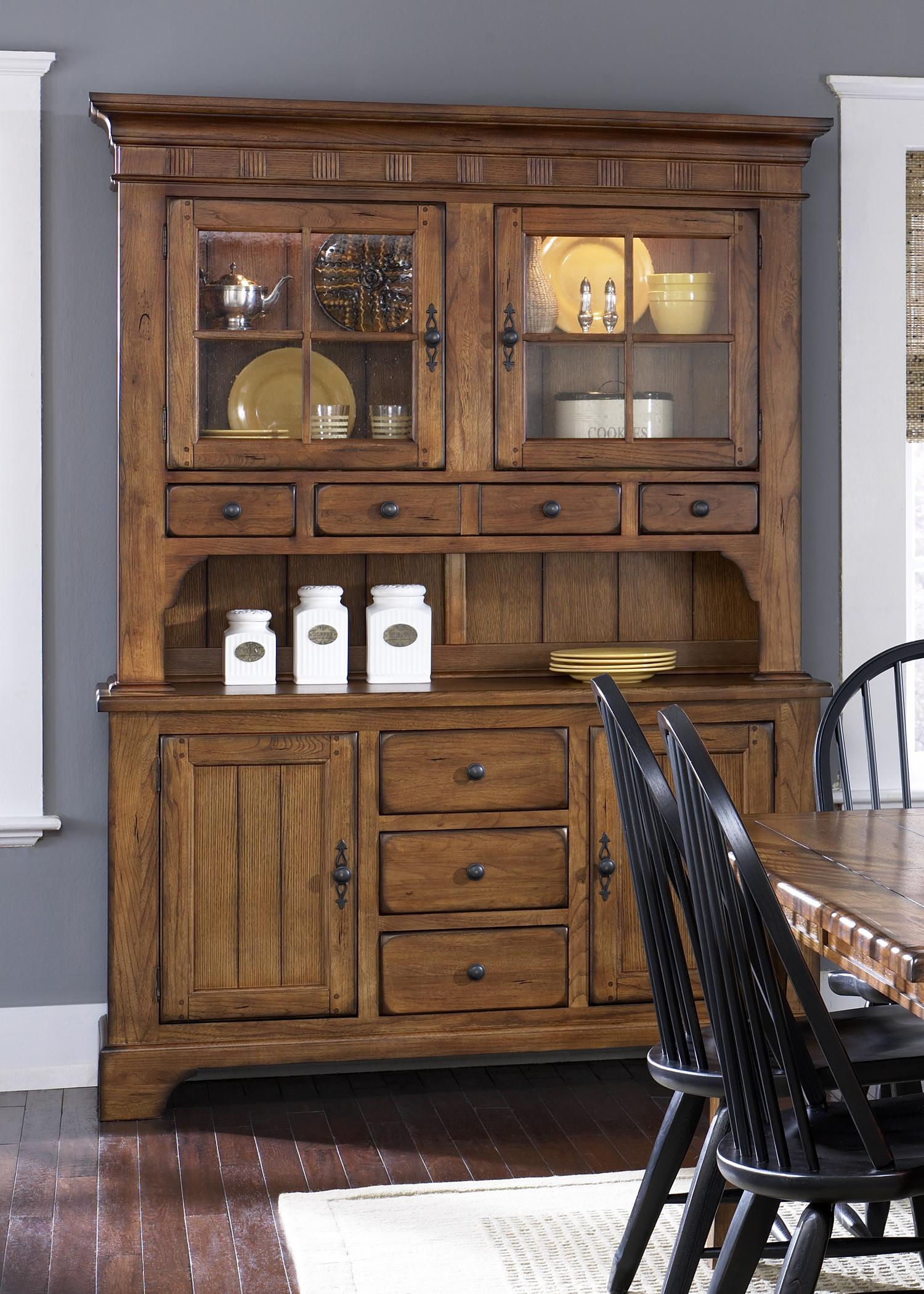 Model: 17-CH6285 | Liberty Furniture Hutch - Oak
