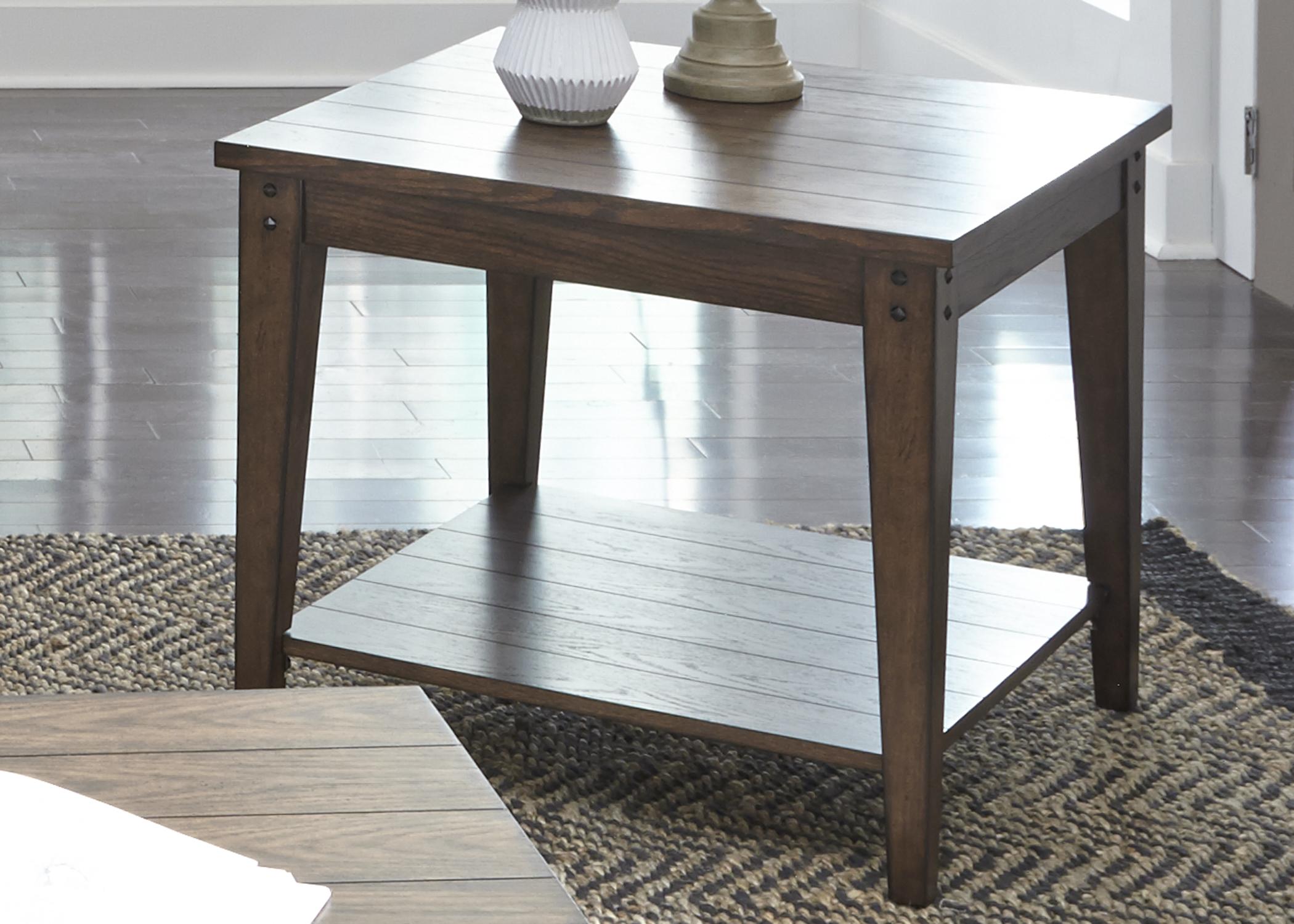 Liberty Furniture Square Lamp Table