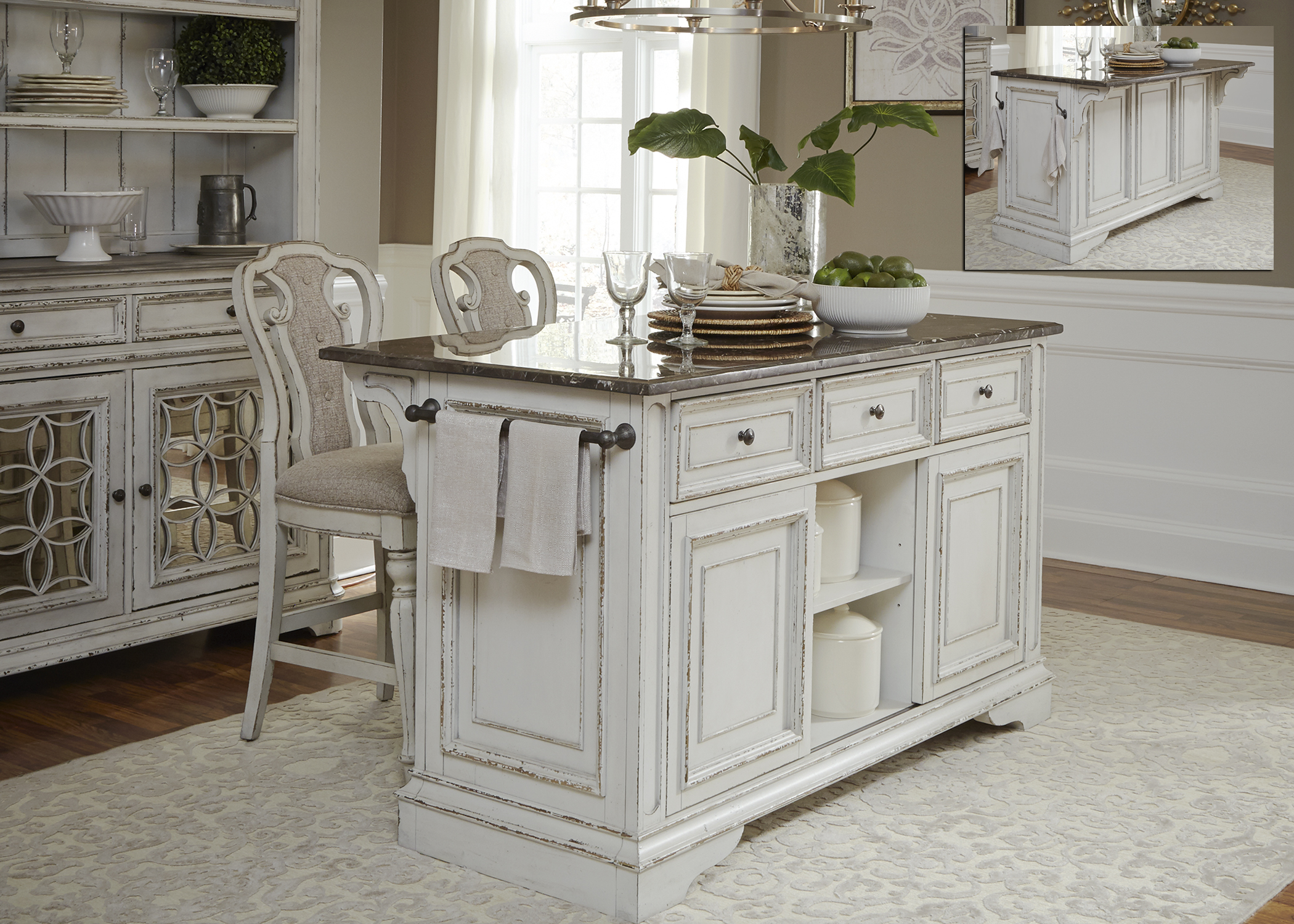 Liberty Furniture Kitchen Island with Granite