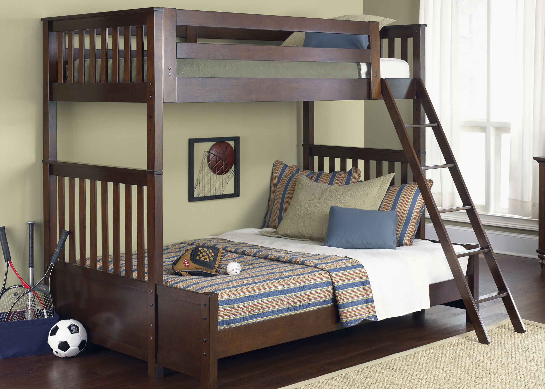 Liberty Furniture Twin Upper-Lower Headboard and Footboard