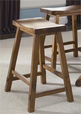 Liberty Furniture 24 Inch Sawhorse Barstool - Tobacco (RTA)