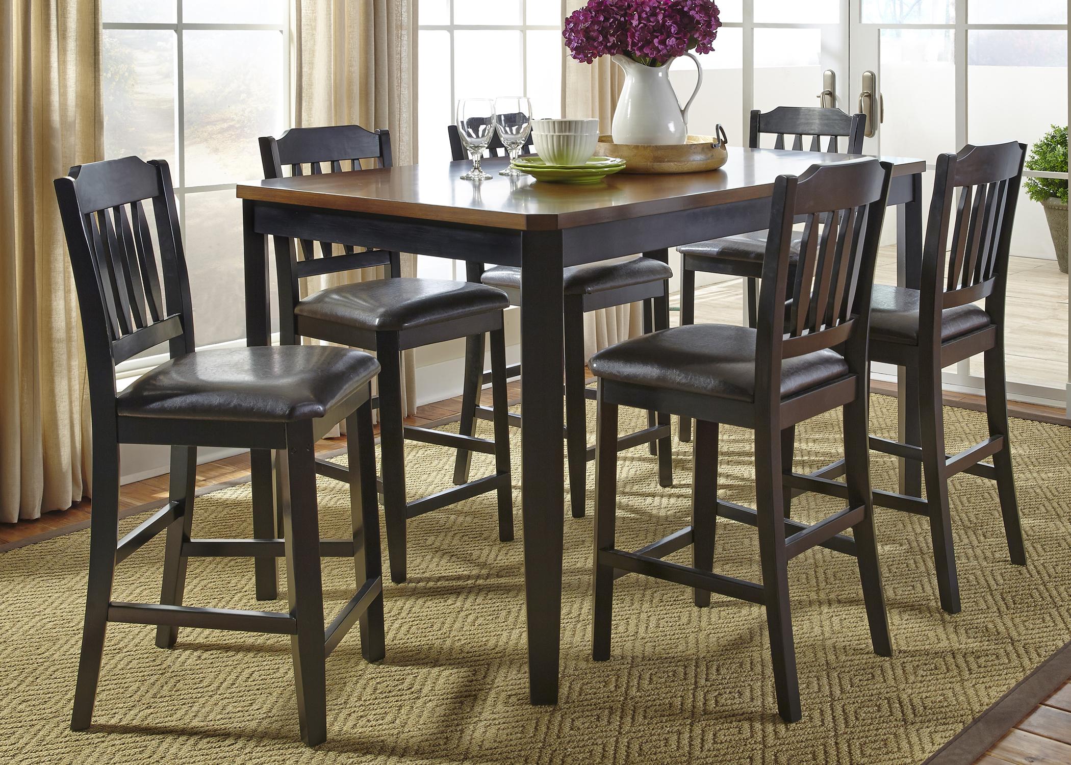 Liberty Furniture 7 Piece Gathering Table Set