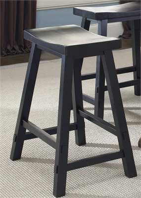 Liberty Furniture 24 Inch Sawhorse Barstool - Black (RTA)