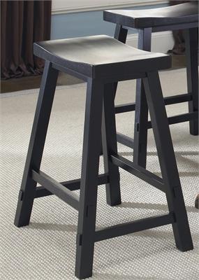Liberty Furniture 30 Inch Sawhorse Barstool - Black (RTA)