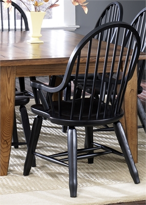 Liberty Furniture Bow Back Arm Chair - Black