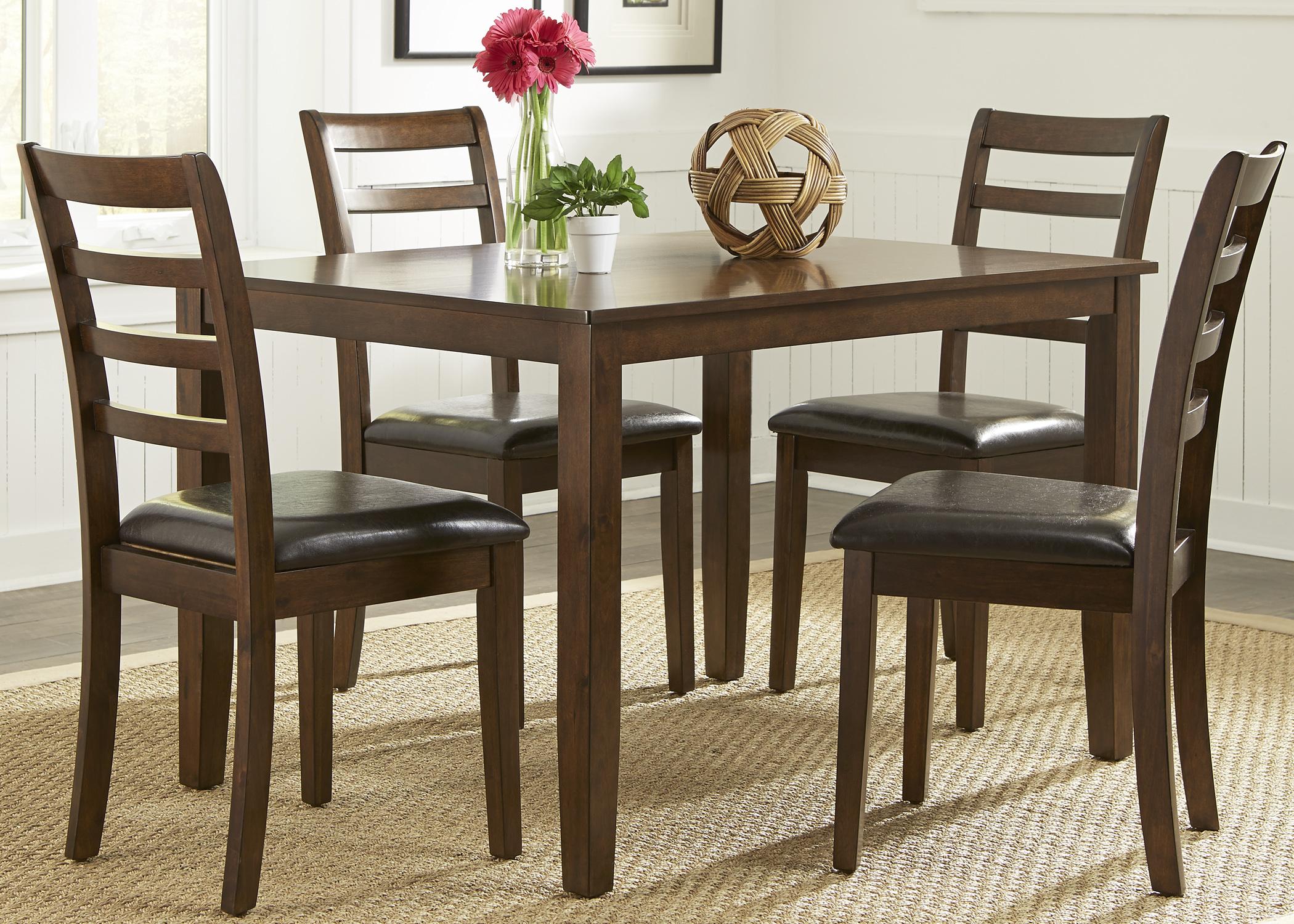 Liberty Furniture 5 Piece Rectangular Leg Table Set