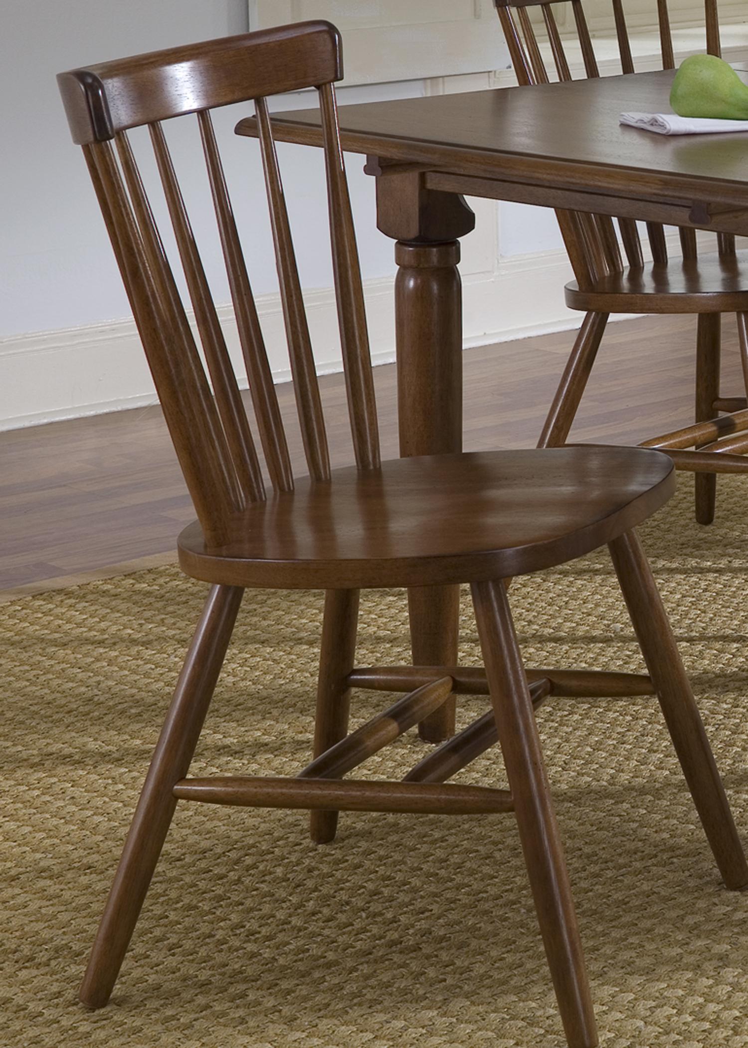 Model: 38-C50 | Liberty Furniture Copenhagen Side Chair - Tobacco