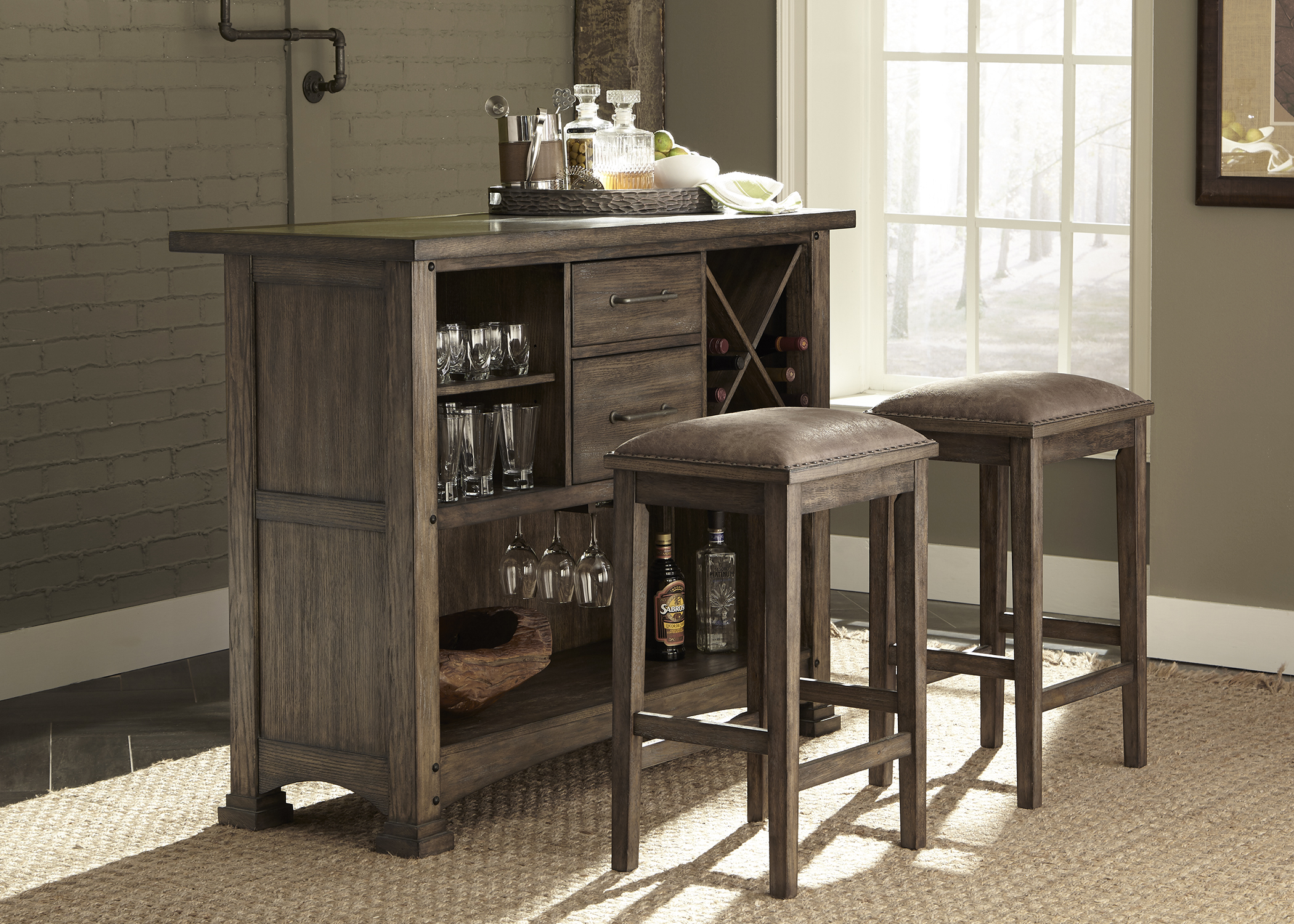 Liberty Furniture 3 Piece Bar Set