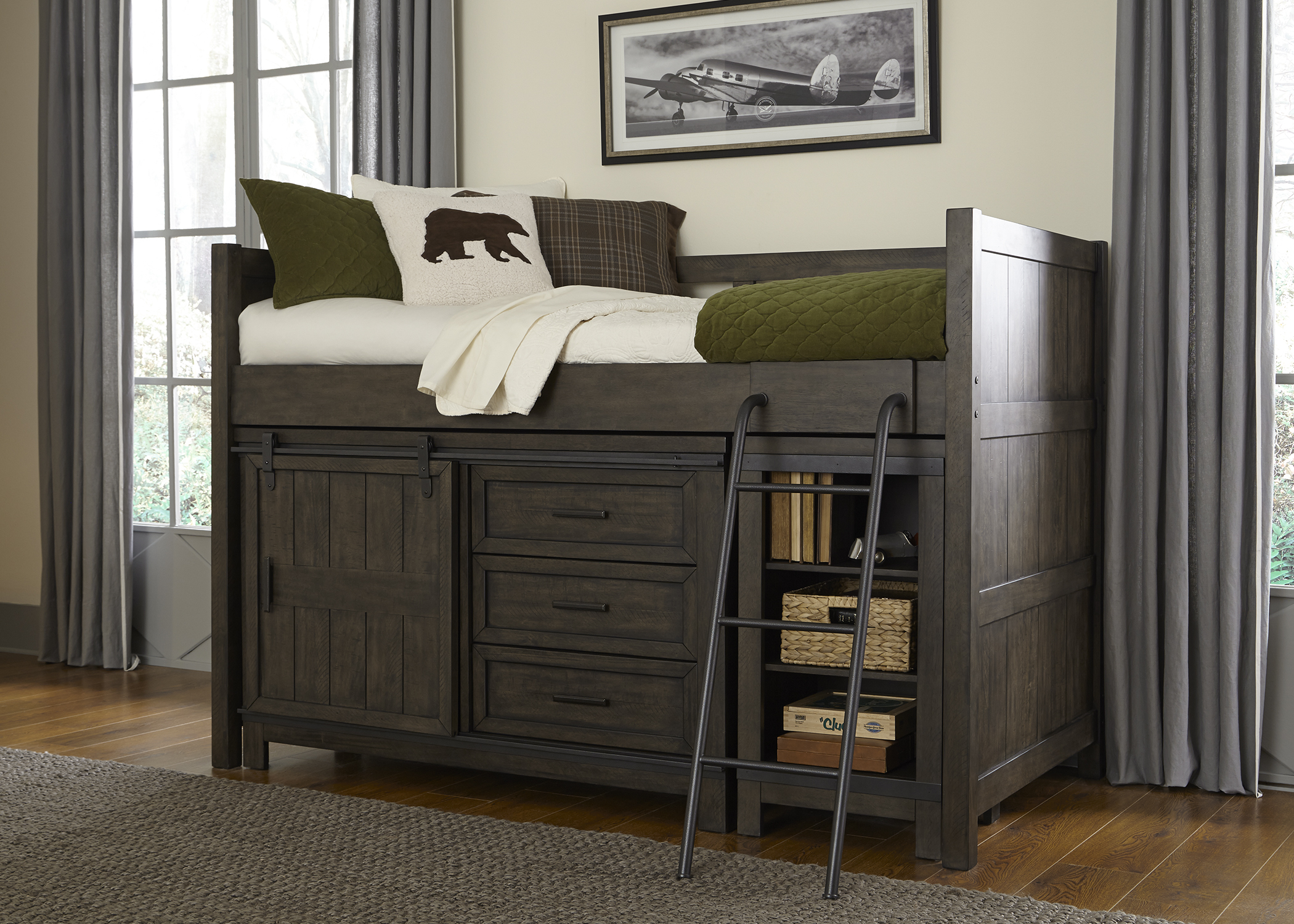 Liberty Furniture Twin Loft HB and FB