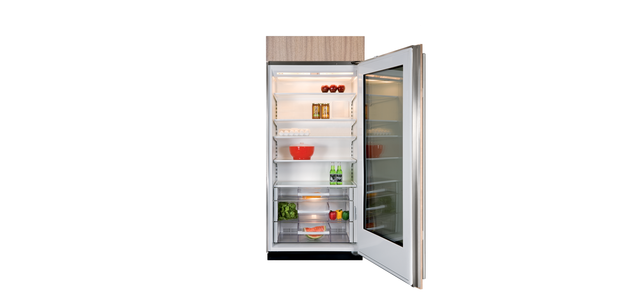 BI-36RG All Refrigerator with Glass Door