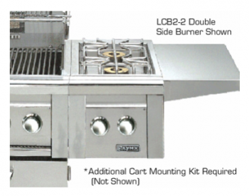 Double Side-Burners for cart mounted application