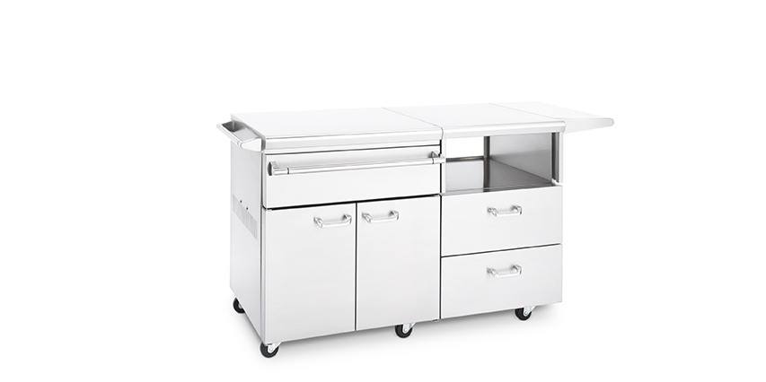 Serve and Prep Countertop on Mobile Kitchen Cart