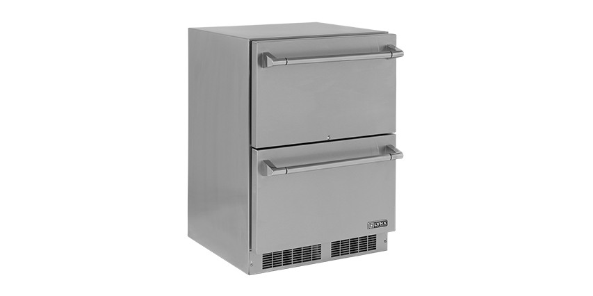 24 inch Double Drawer Outdoor Refrigerator