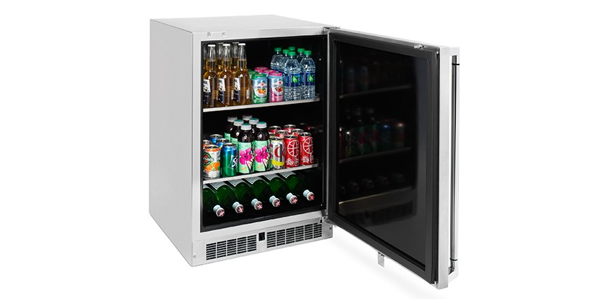24 inch Outdoor Beverage Dispenser, Left Hinge