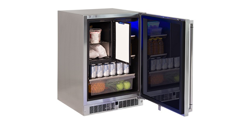 24 inch Outdoor Refrigerator & Freezer Combination, Right Hinge