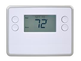 Smart Standard Thermostat, White, B/W LCD, Z-Wave Enabled