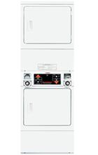 Coin Slide Stack Dryer Solid Door - Shorter
