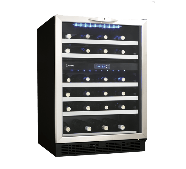 "Model: DWC518BLS | Danby Silhouette STILTON 24"" DUAL ZONE WINE CELLAR."