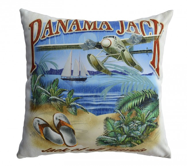 Pelican Reef - Panama Jack Jack of all Travels Throw Pillow