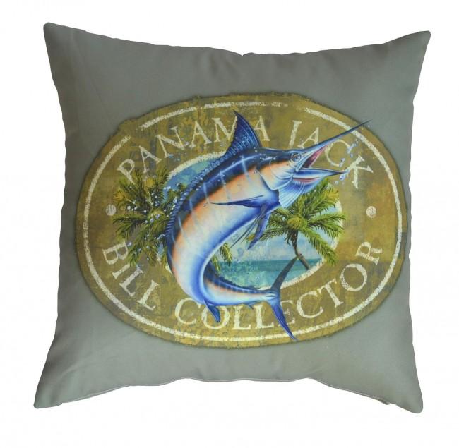Pelican Reef - Panama Jack Bill Collector Throw Pillow