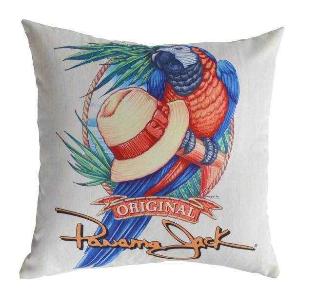 Pelican Reef - Panama Jack Panama Parrot Throw Pillow