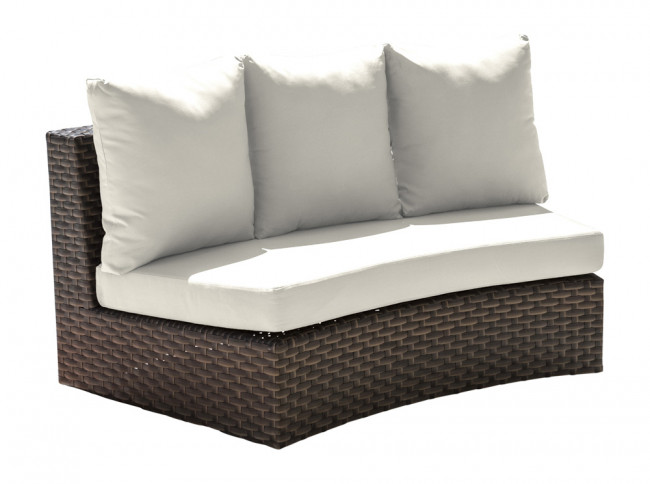 Big Sur Curved Loveseat w/off-white cushion