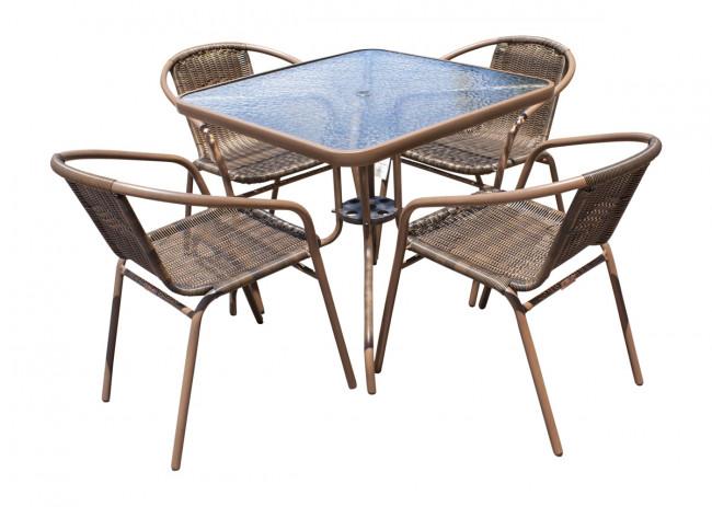 Panama Jack Café 5 PC Woven Dining Set