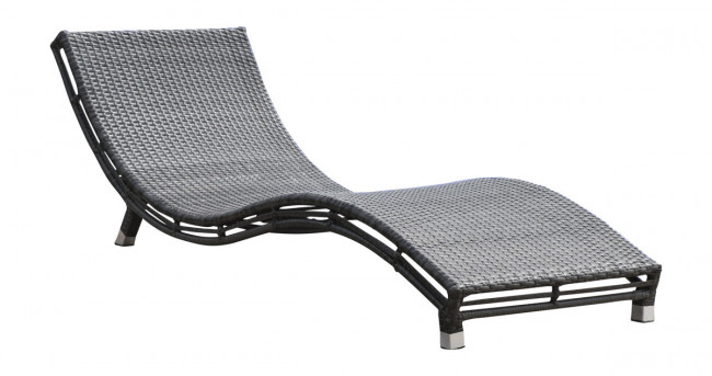 Graphite Curved Chaise Lounge
