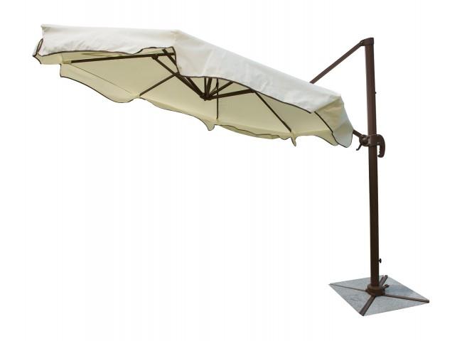 Island Breeze 10 FT DIA Cantilever Umbrella with stone bases