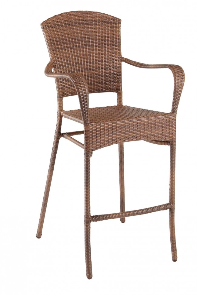 Key Biscayne Stackable Woven Barstool