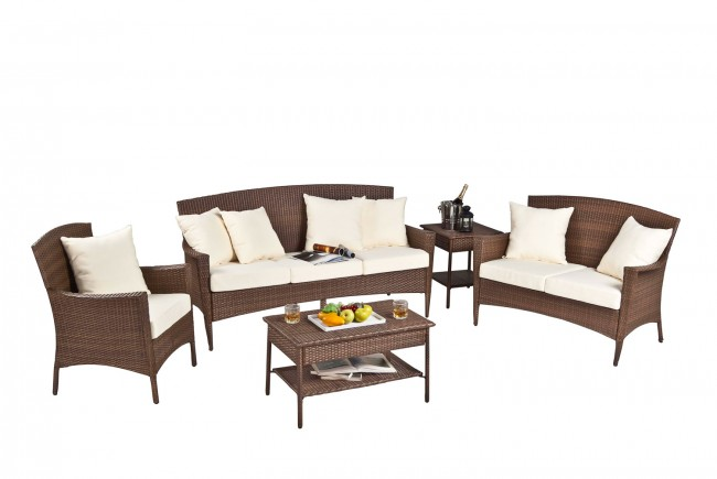 Key Biscayne 5 PC Sofa Seating Group with cushions