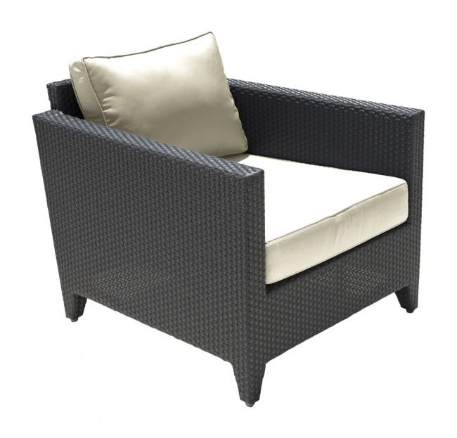 Onyx Lounge Chair w/off-white cushion