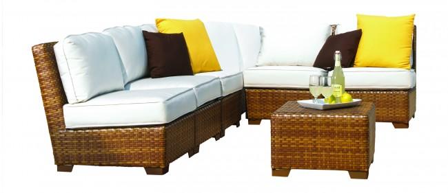 7 PC St Barths Corner Modular Sectional w/cushions