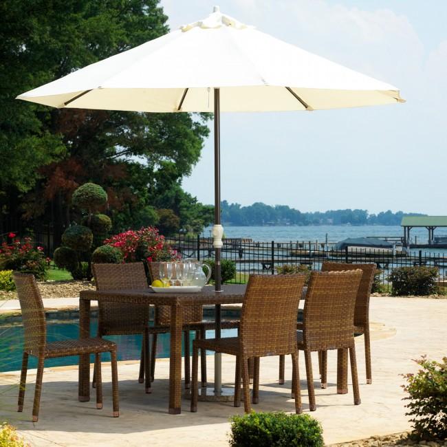 7 PC St Barths Rectangular Dining Side Chair Set