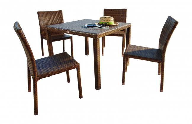 5 PC St Barths Side Chair Dining Set