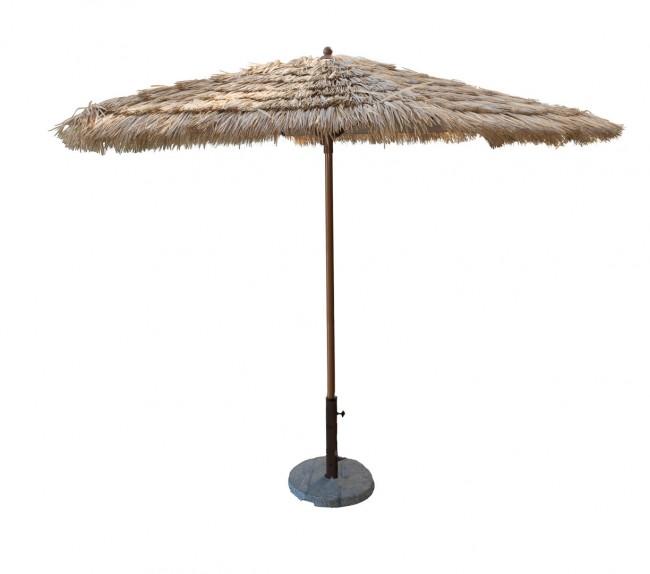 9 FT Tiki Thatch Aluminum Crank Umbrella