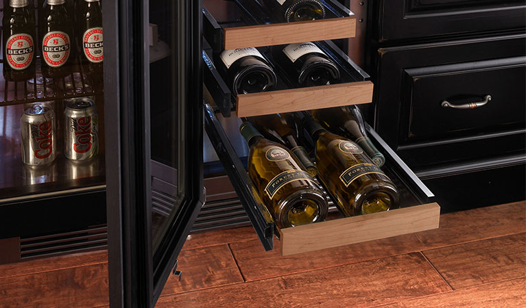 WOOD FRONTS FOR WINE SHELVES,(24