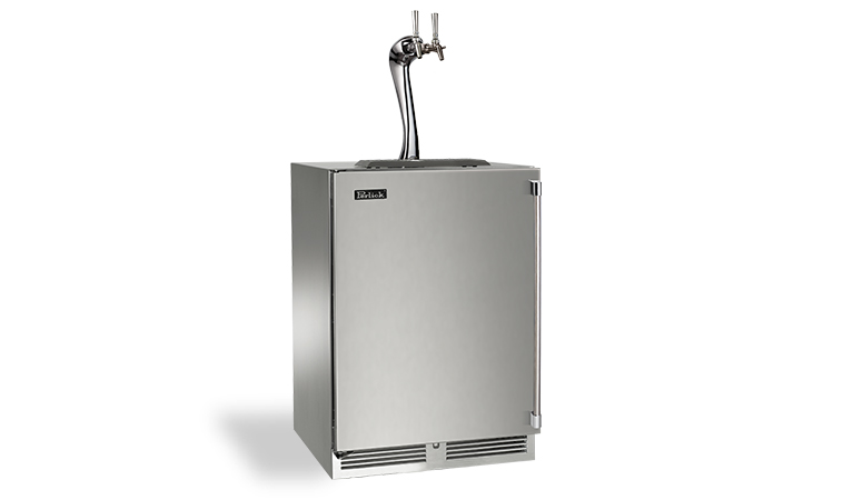"Model: HP24TS-3-2A | Perlick 24"" SIGNATURE SERIES ADARA BEER DISPENSER 2 FAUCET"