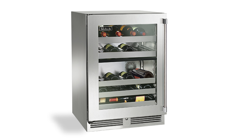 "Model: HP24CO-3 | Perlick 24"" SIGNATURE SERIES DUAL-ZONE OUTDOOR WINE RESERVE"