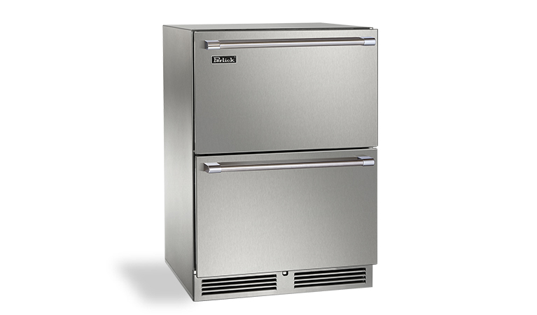 "Perlick 24"" SIGNATURE SERIES DUAL-ZONE OUTDOOR FREEZER/REFRIGERATOR DRAWERS"