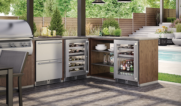 "Model: HP24ZO-3 | Perlick 24"" SIGNATURE SERIES DUAL-ZONE OUTDOOR FREEZER/REFRIGERATOR DRAWERS"