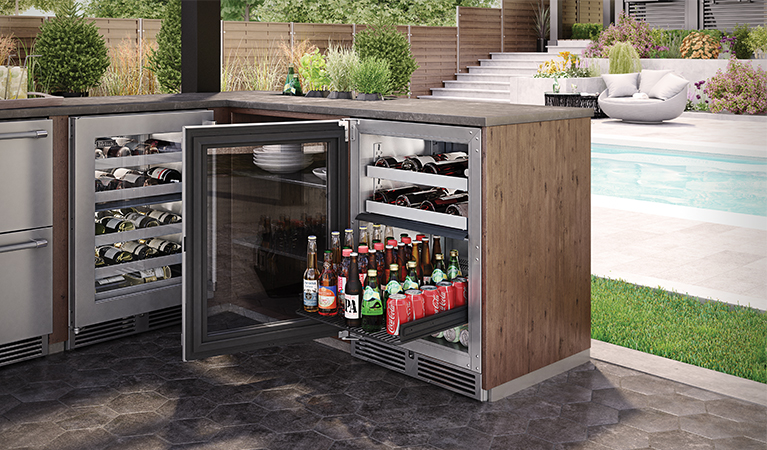 "Model: HP24DO-3 | Perlick 24"" SIGNATURE SERIES DUAL-ZONE OUTDOOR REFRIGERATOR/WINE RESERVE"