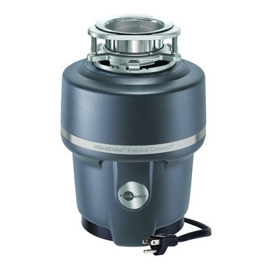InSinkerator Evolution Compact Garbage Disposal with Cord 3/4 HP