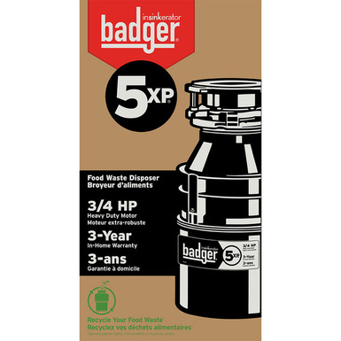 Model: 75993 | InSinkerator Badger 5XP Garbage Disposal Without Cord