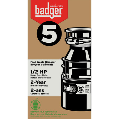 Model: 78578A-ISE | InSinkerator Badger 5 Garbage Disposal With Cord